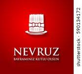 nowruz greeting. iranian new... | Shutterstock .eps vector #590134172