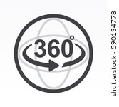 360 degrees view sign icon | Shutterstock .eps vector #590134778
