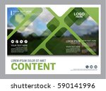 greenery brochure layout banner ... | Shutterstock .eps vector #590141996