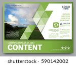 greenery brochure layout banner ... | Shutterstock .eps vector #590142002