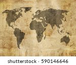 old map | Shutterstock . vector #590146646