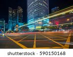 urban traffic road with... | Shutterstock . vector #590150168