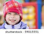 Girl  On Playground Smiling
