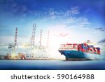 logistics and transportation of ... | Shutterstock . vector #590164988