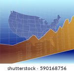 the united states finance and... | Shutterstock .eps vector #590168756