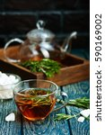rosemary tea | Shutterstock . vector #590169002