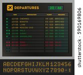 digital colorful airport board... | Shutterstock .eps vector #590169806