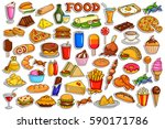 vector illustration of sticker... | Shutterstock .eps vector #590171786