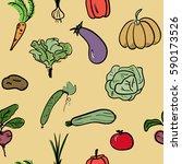 hand drawn sketch watercolor... | Shutterstock .eps vector #590173526