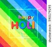 happy holi festival colorful... | Shutterstock .eps vector #590179295