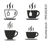 tea vector icons set. black... | Shutterstock .eps vector #590181815