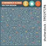 commerce icon set clean vector | Shutterstock .eps vector #590197196