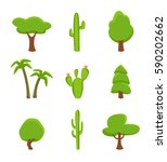 green plant set isolated on... | Shutterstock .eps vector #590202662