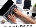 businesses are using computers... | Shutterstock . vector #590212922