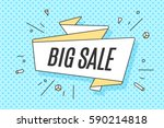 ribbon banner with text big... | Shutterstock .eps vector #590214818
