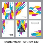 set of abstract geometric... | Shutterstock .eps vector #590225132