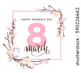 international women's day.... | Shutterstock .eps vector #590226662