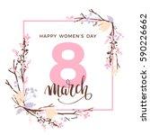 international women's day.... | Shutterstock .eps vector #590226662