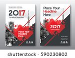 red color scheme with city... | Shutterstock .eps vector #590230802