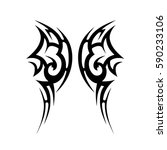 tattoo tribal vector designs.... | Shutterstock .eps vector #590233106