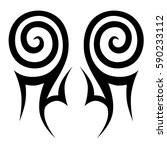 tattoo tribal vector designs... | Shutterstock .eps vector #590233112