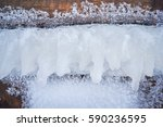 texture of ice on the tree. | Shutterstock . vector #590236595