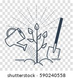 icon tree planting  landscaping ... | Shutterstock .eps vector #590240558