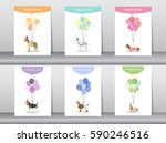 set of congratulation cards... | Shutterstock .eps vector #590246516