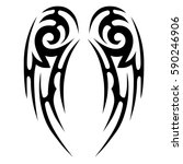 tribal designs. tribal tattoos. ... | Shutterstock .eps vector #590246906