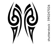 tattoo tribal vector designs.... | Shutterstock .eps vector #590247026