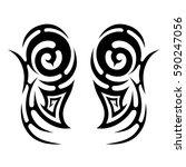 tribal designs. tribal tattoos. ... | Shutterstock .eps vector #590247056