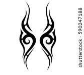 tattoo art tribal scroll...   Shutterstock .eps vector #590247188