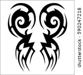 tattoo tribal vector designs... | Shutterstock .eps vector #590247218