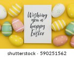 seasonal easter message with... | Shutterstock . vector #590251562