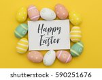 seasonal easter message with... | Shutterstock . vector #590251676