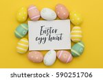 seasonal easter message with... | Shutterstock . vector #590251706