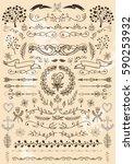 big set of vintage elements.... | Shutterstock .eps vector #590253932
