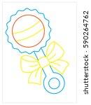 vector coloring book of beanbag   Shutterstock .eps vector #590264762