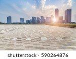 skyline and modern business... | Shutterstock . vector #590264876