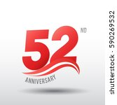 52 years anniversary... | Shutterstock .eps vector #590269532