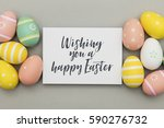 seasonal easter message with... | Shutterstock . vector #590276732