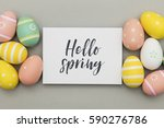 seasonal easter message with... | Shutterstock . vector #590276786