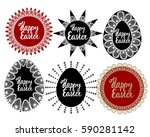 set of vector red and black... | Shutterstock .eps vector #590281142