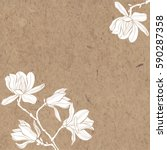 floral vector background with... | Shutterstock .eps vector #590287358