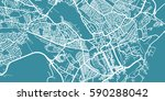 detailed vector map of cardiff  ... | Shutterstock .eps vector #590288042