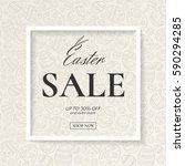 easter sale stylish poster with ... | Shutterstock .eps vector #590294285