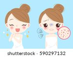 cartoon beauty woman with... | Shutterstock .eps vector #590297132