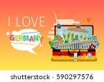 concept of travel to germany or ... | Shutterstock .eps vector #590297576