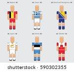 soccer  football  player flag... | Shutterstock .eps vector #590302355