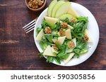 waldorf salad with apple ... | Shutterstock . vector #590305856